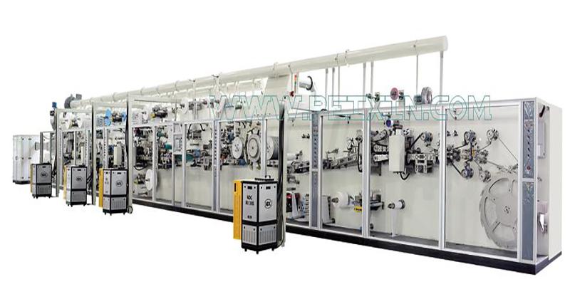 Full-servo Control Sanitary Napkin Production Line Featured Image