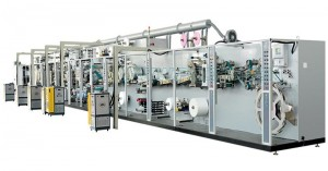 Full-servo Control Protection-leakage Sanitary Napkin Production Line